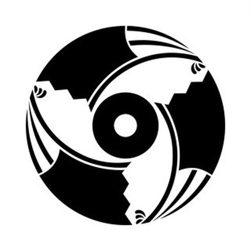 三つ割雁木扇に蛇の目 aiデータ