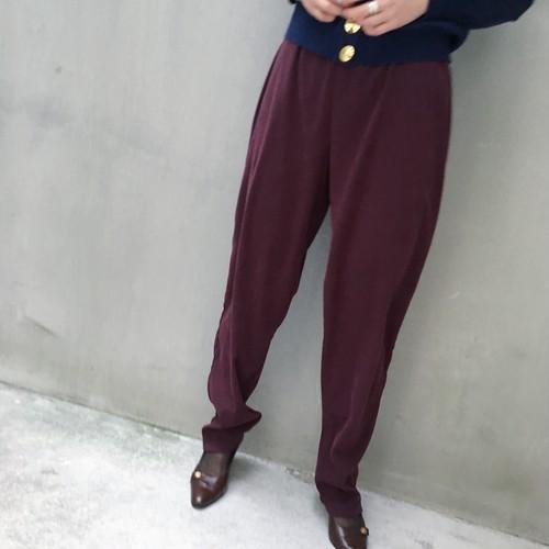 Dark cherry easy pants