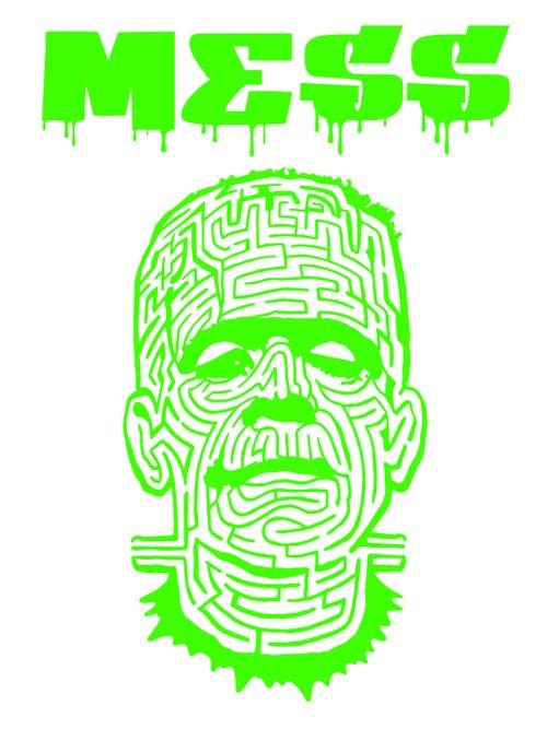 THE MAZE ホワイトTシャツ グリーン フォントG