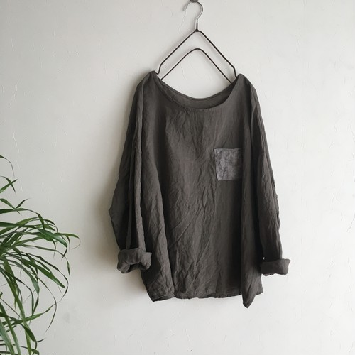 daily pullover 濃灰