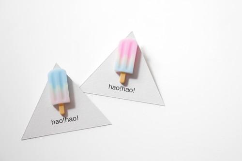 hao!hao!「アイスクリームピンバッヂ」