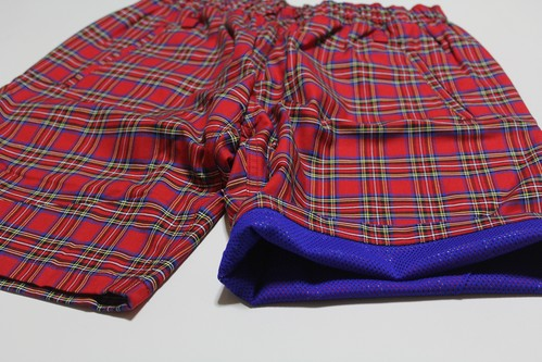 EACHTIME. EASY SHORTS RED CHECK