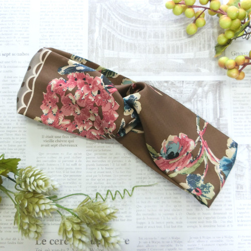 flower scarf クロスヘアバンドB