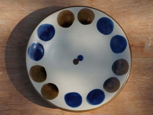 コバルトが鮮やかな5寸皿(約15cm) ヤチムン大城工房 大城雅史 やちむん