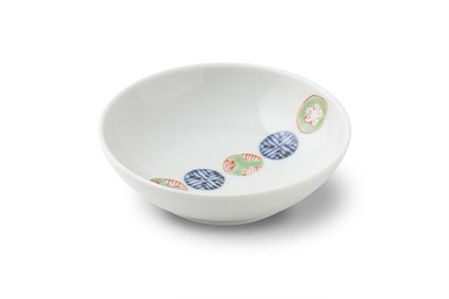 染錦丸紋つなぎ3.5寸丸小皿