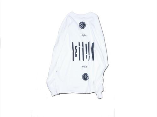Community Borderless Long T Shirt / WHITE