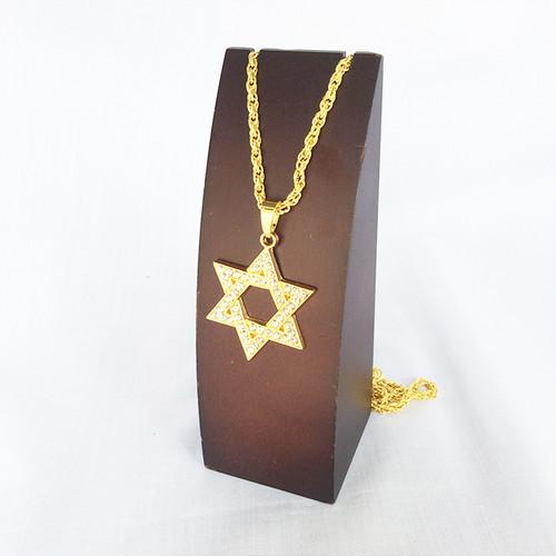 ダビデの星 ジルコニア ゴールド 金 GOLD ネックレス 1211
