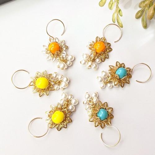 Flower Vintagebeads pierce