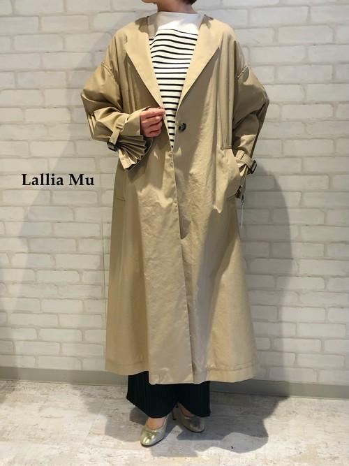Lallia Mu/デザイントレンチコート/2111184(ベージュ)