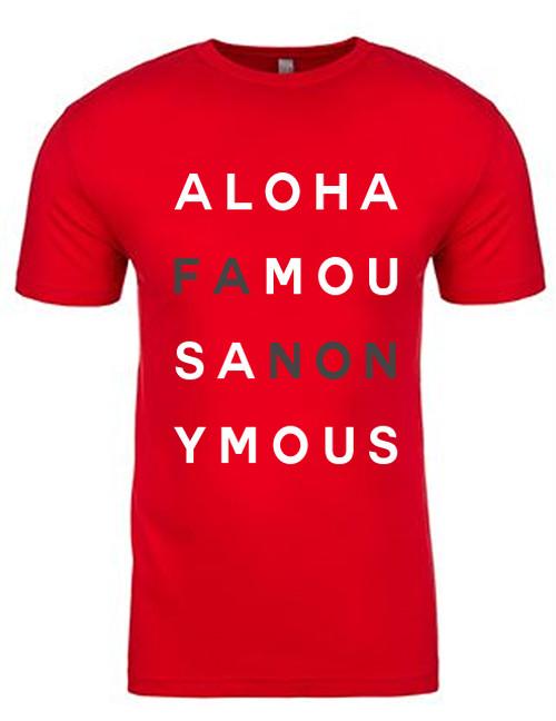 [MAN] ALOHA FANON TEE -RED-
