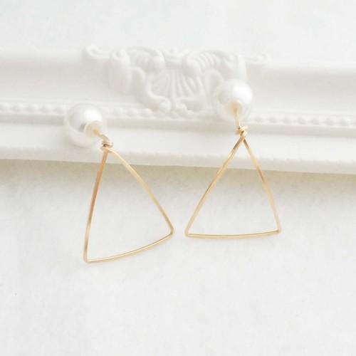 K14GFワイヤーピアス~Triangle~