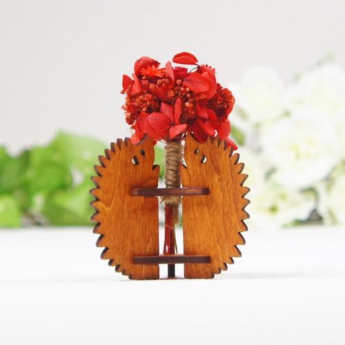 「ハナとはりねずみ」木製一輪挿し