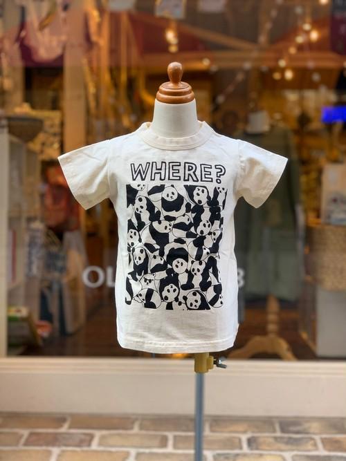 NEEDLEWORKS STANDARD  Panda T-shirt(IVORY/80〜150cm)