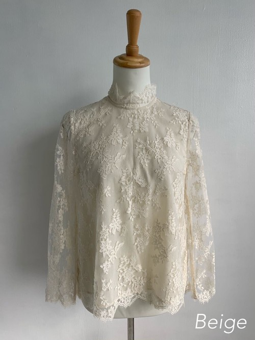 Bilitis dix-sept ans (ビリティス・ディセッタン)    Leaver Lace Blouse 2019SS