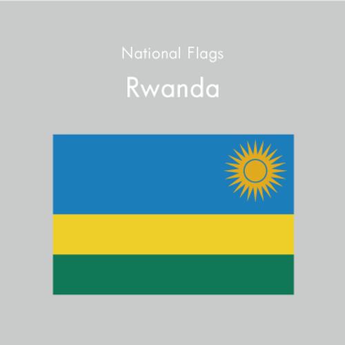 国旗ステッカー ルワンダ