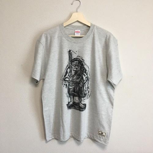 不動明王 (吉村形木版画Tシャツ)