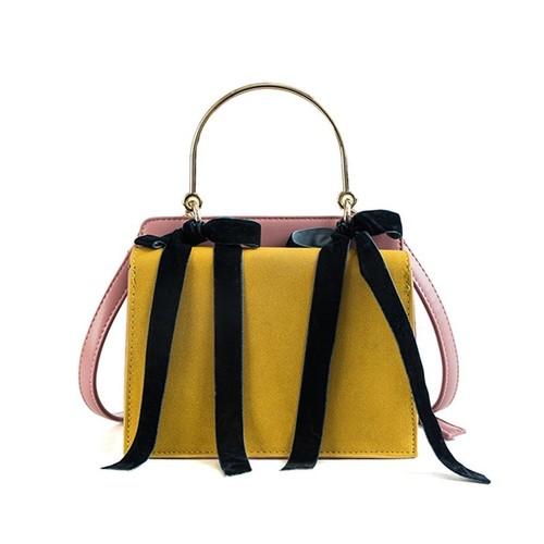 Handbag Leather Shoulder Bag Casual Tote Bag Messenger Crossbody Bag Sac リボン カジュアル ショルダーバッグ トートバッグ レザー クロスボディ ハンドバッグ (HF99-6146952)