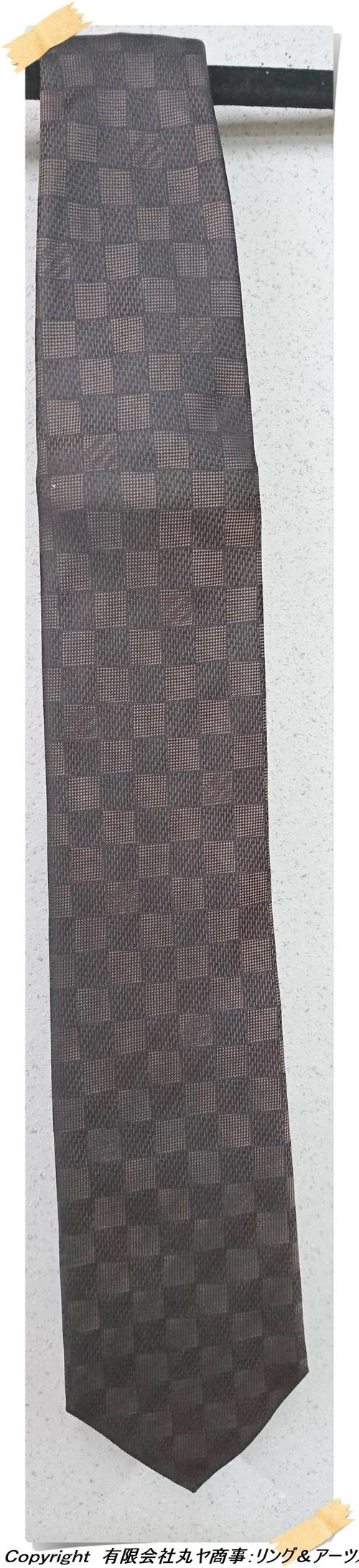 ルイ・ヴィトン:クラヴァット・ダミエ クラシック8cm (エベヌ)/M74138