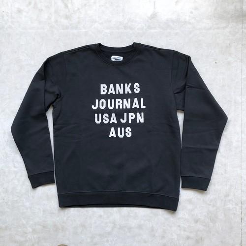 BANKS JOURNAL バンクスジャーナル HEMISPHERE FLEECE クルーネックスウェット AFL0209  ディルティブラック