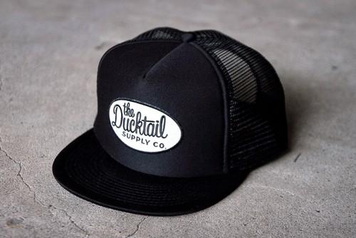 "DUCKTAIL CLOTHING TRUCKER CAP ""TRUCKIN'"" BLACK ダックテイル クロージング メッシュキャップ"