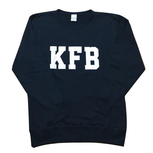 """""""KFB""""クルーネック スウェット(カーボンブラック)"""