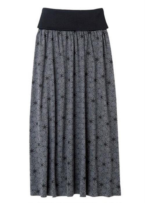 オーガニックコットンカラーブロックプリント・ロングスカート