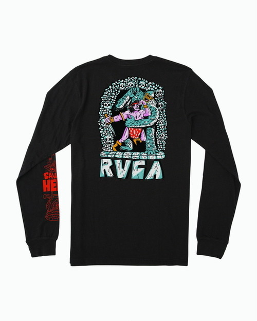 RVCA メンズ 【ANP】 BARBARIAN LS ロングスリーブTシャツ