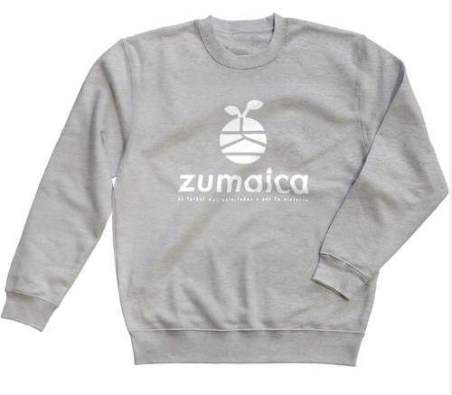 zumaica トレーナー Gray【Whiteロゴ】