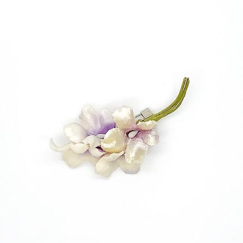 Arpeggio お花ブローチ ホワイト