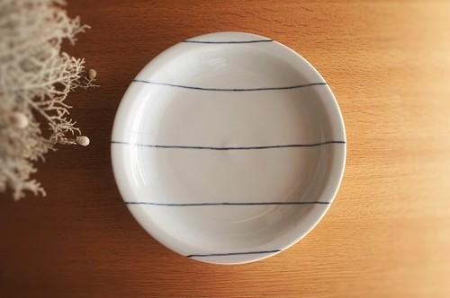 砥部焼/8寸リム付皿/ヨコセン