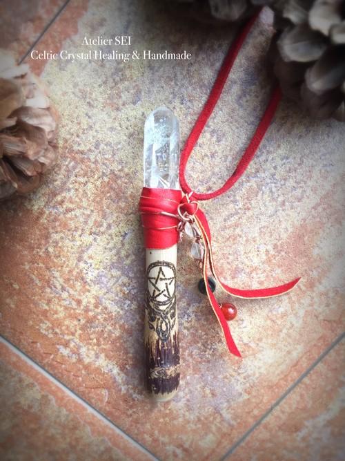 ナナカマドの魔法の杖ネックレス