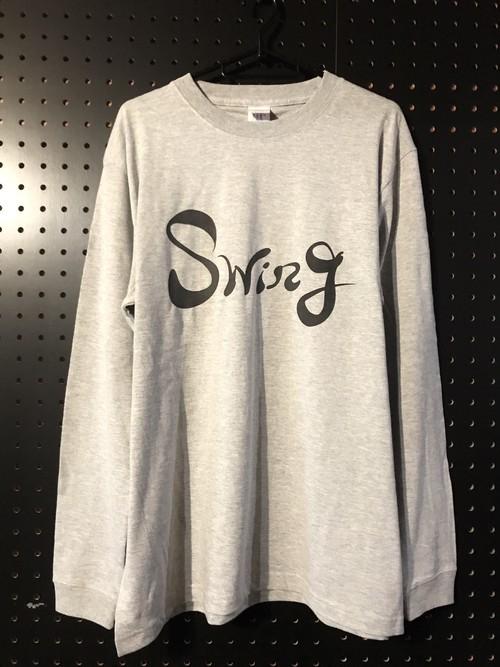 長袖TシャツSwing(M,L)グレー