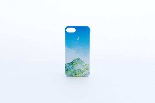 青空と、山と月の、スマホケース