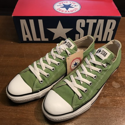 90's CONVERSE コンバース ALL STAR LOW  バンブー BAMBOO GREEN 黄緑 US8 USA製 希少 ヴィンテージ 美品