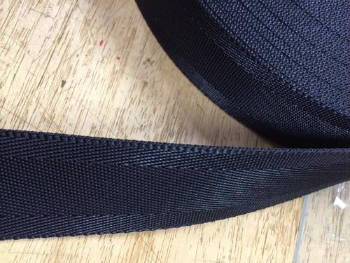 ナイロン ベルト シート織 50mm幅 1.3mm厚 1m 黒