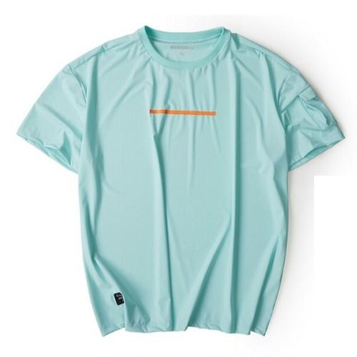 送料無料メンズ大きいサイズ/ミント/カーキ/袖ポケット/半袖Tシャツ