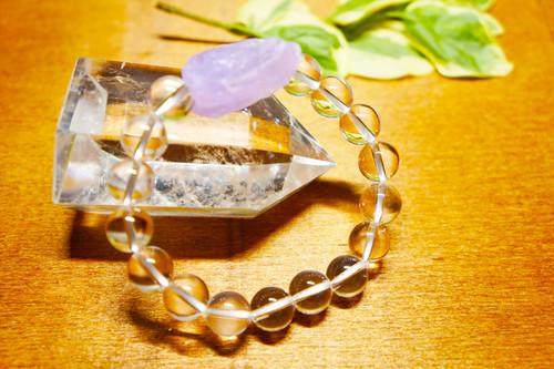 【アウトレット】原石アメジストブレスレット 最高級水晶セット