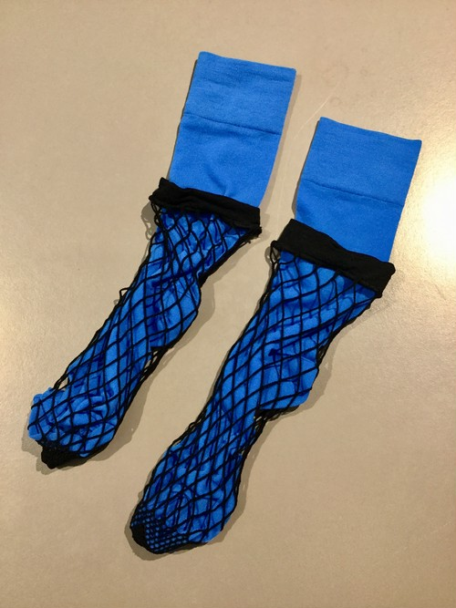 FAKUI LAYERED SOCKS BLUE
