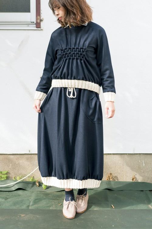 ウールニットコクーンスカート