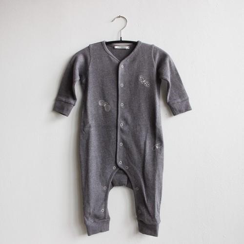 《mina perhonen 2021SS》choucho ロンパース / charcoal / 70cm