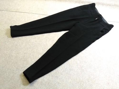 ワイズ Y's ウール厚手 ジョッパーズ パンツ 裾スナップ 黒 u1097c