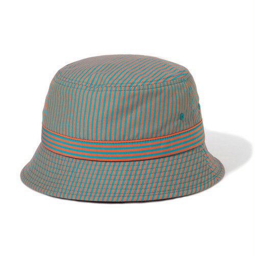 "Just Right ""Team Stripe Bucket Hat"" MIA (Orange x Green)"