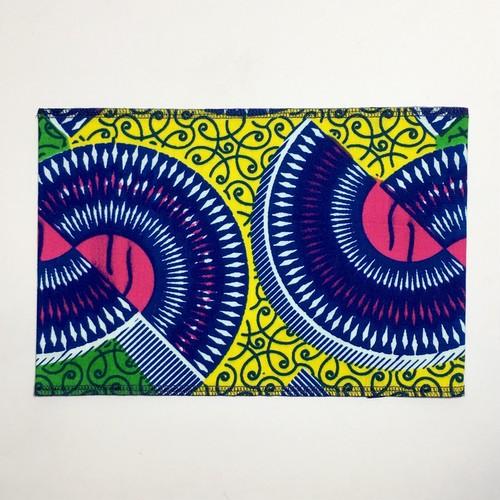ブックカバー アフリカンテキスタイル(日本縫製) ディスク|アフリカ エスニック ガーナ布