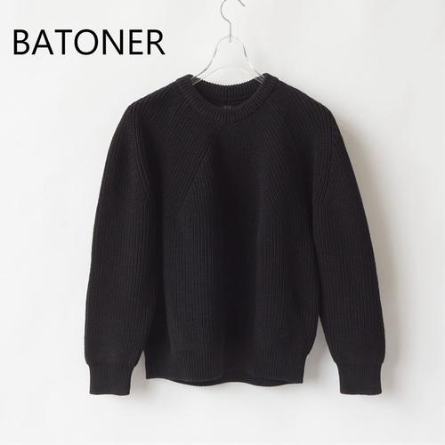 BATONER/バトナー・Signature Crew Neck
