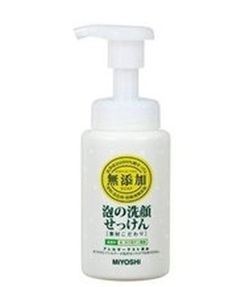 ミヨシ 無添加 素材こだわり 泡の洗顔せっけん 本体 200ml MIYOSHI