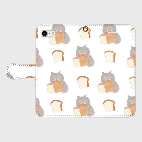 食パンむしゃあ (手帳型iPhoneケース )