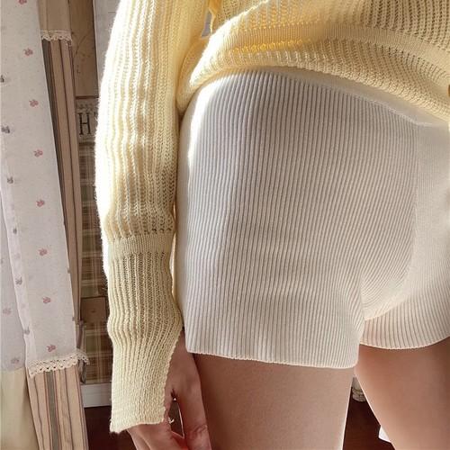 rib short pants 6c's