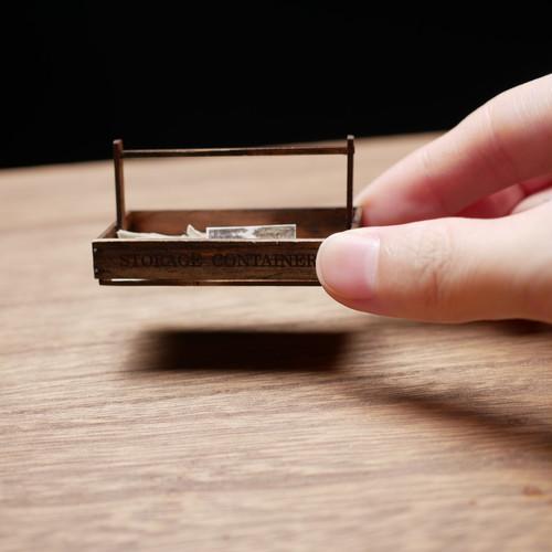 ミニチュア ドールハウス 手作りキット miniature dollhouse kit 木箱6 L019