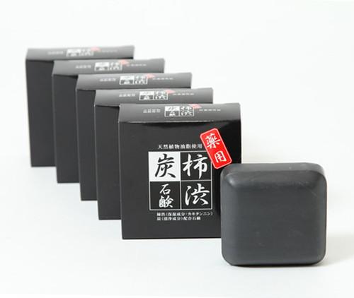薬用 柿渋炭消臭エチケットソープ(5個セット)