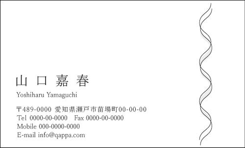 モノクロ名刺1050  100枚